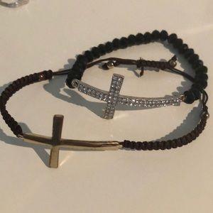 Jewelry - Side ways cross bracelet BUNDLE!